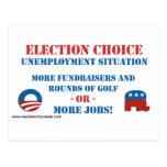 Opción de la elección - desempleo tarjetas postales