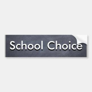 Opción de la escuela pegatina para auto