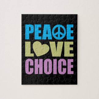 Opción del amor de la paz puzzles con fotos
