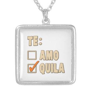 Opción del español del Tequila de Te Amo Colgante Cuadrado
