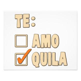 """Opción del español del Tequila de Te Amo Folleto 4.5"""" X 5.6"""""""
