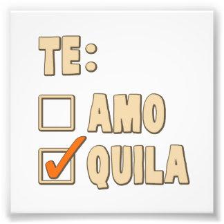 Opción del español del Tequila de Te Amo Fotografía