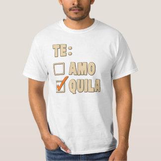 Opción del español del Tequila de Te Amo Playera