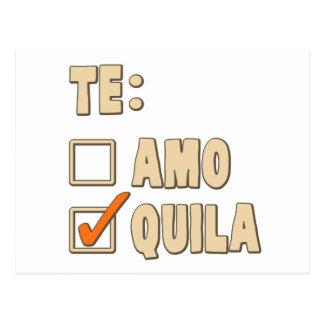 Opción del español del Tequila de Te Amo Postal