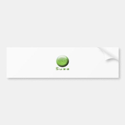 Opción del friki de Suse Etiqueta De Parachoque