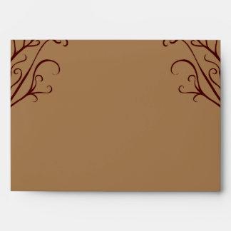 opción del sobre 5x7 árbol de 5 otoños