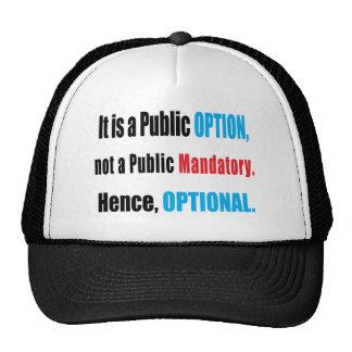 Opción pública gorras