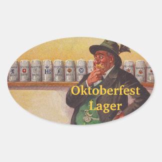 Opciones alpinas del gorra de Edelweiss del brew Pegatina Ovalada