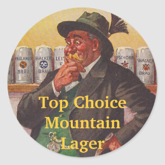 Opciones alpinas del gorra de Edelweiss del brew Pegatina Redonda