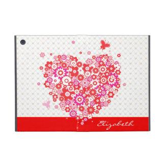 Opciones de Powiscase del corazón 1 de la flor iPad Mini Carcasas