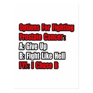 Opciones del cáncer de próstata tarjetas postales