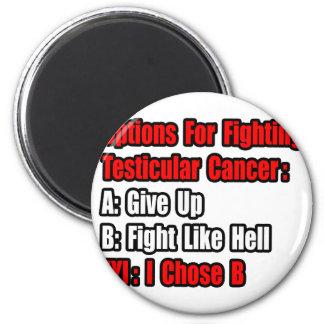 Opciones del cáncer testicular iman de frigorífico