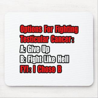 Opciones del cáncer testicular alfombrillas de ratones