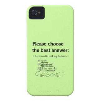 Opciones divertidas de la indecisión iPhone 4 carcasa