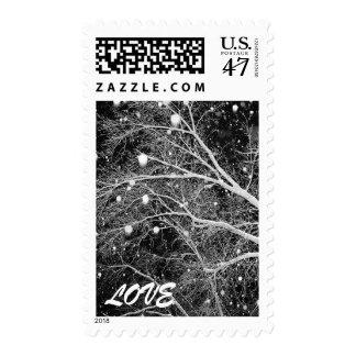 Opciones estacionales del boda del invierno del timbre postal
