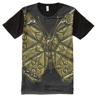 Opciones grabadas de la mariposa 1-3 camisetas con estampado integral