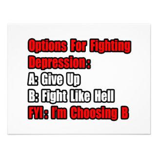 Opciones que luchan de la depresión invitación personalizada