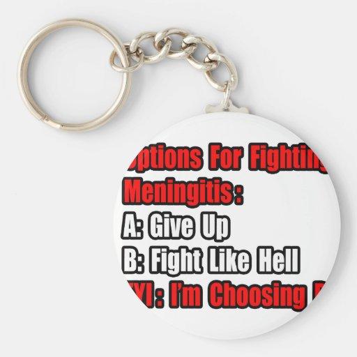 Opciones que luchan de la meningitis llavero