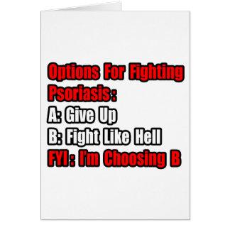 Opciones que luchan del psoriasis tarjetón