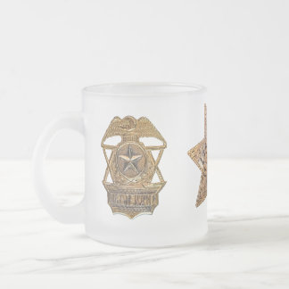 OPD BADGE AND HAT BADGE 10 OZ FROSTED GLASS COFFEE MUG