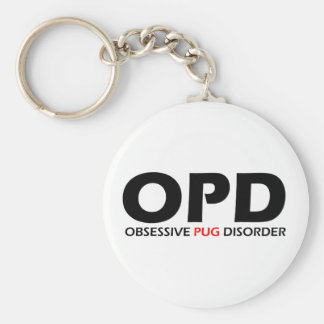 OPD - Obsessive Pug Disorder Basic Round Button Keychain