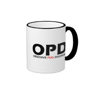 OPD - Obsessive Pug Disorder Ringer Coffee Mug