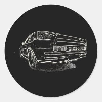 Opel Ascona i400 Classic Round Sticker