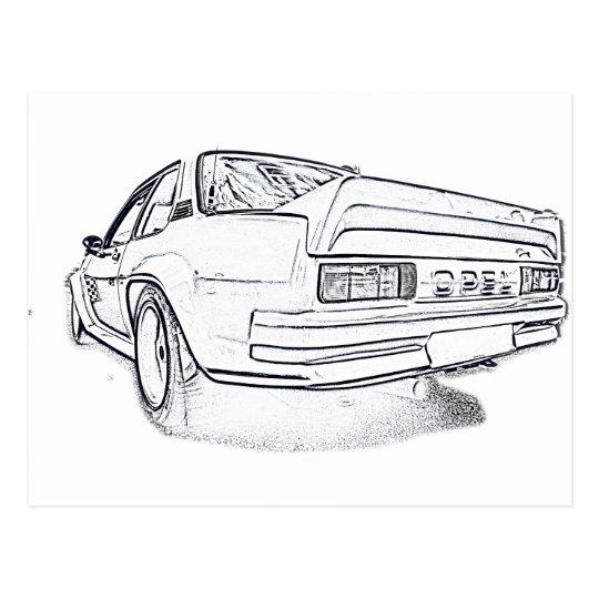 Opel Ascona i400 Postcard