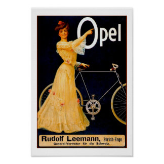Opel Bicycles Vintage Advertising Poster
