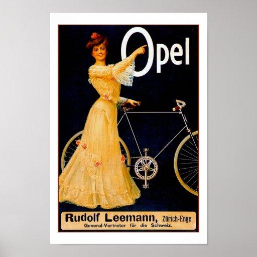 Opel Bicycles Vintage Advertising Poster
