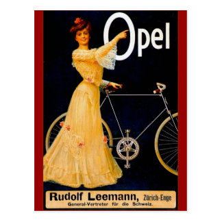 Opel Bicycles Vintage Advertisment Postcard