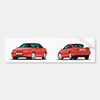 Opel Calibra red Bumper Sticker