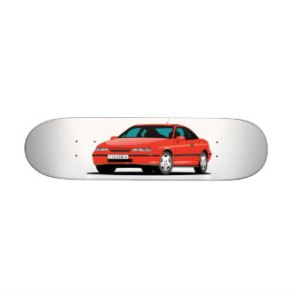 Opel Calibra red front Skateboard Deck