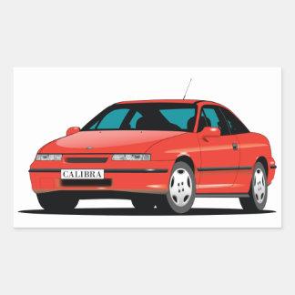 Opel Calibra red front Rectangular Sticker