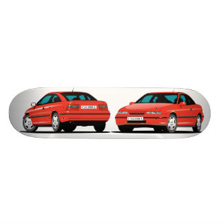 Opel Calibra red Skateboard Deck