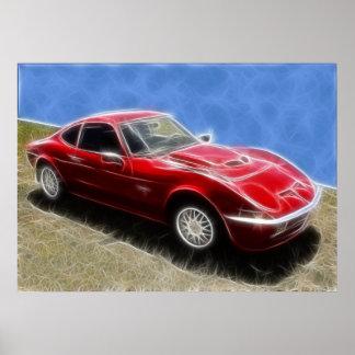 Opel GT Poster