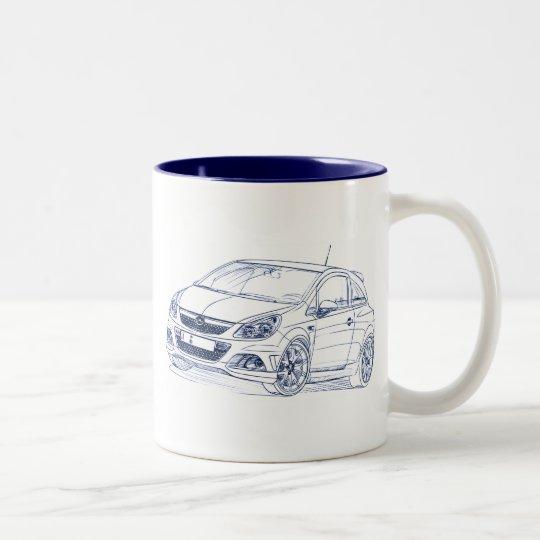 Opel OPC 2008 Two-Tone Coffee Mug