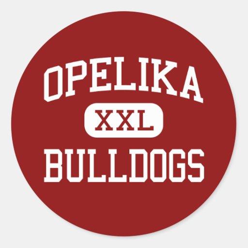 Opelika - dogos - High School secundaria - Opelika Pegatina Redonda