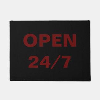 Open 24/7 doormat
