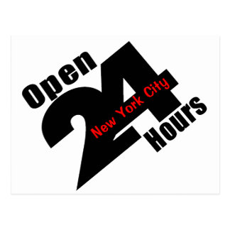 Open 24 Hours Postcard