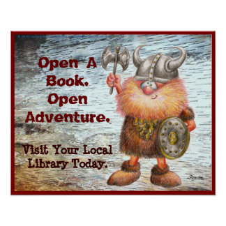 Open A Book. Open Adventure. Poster