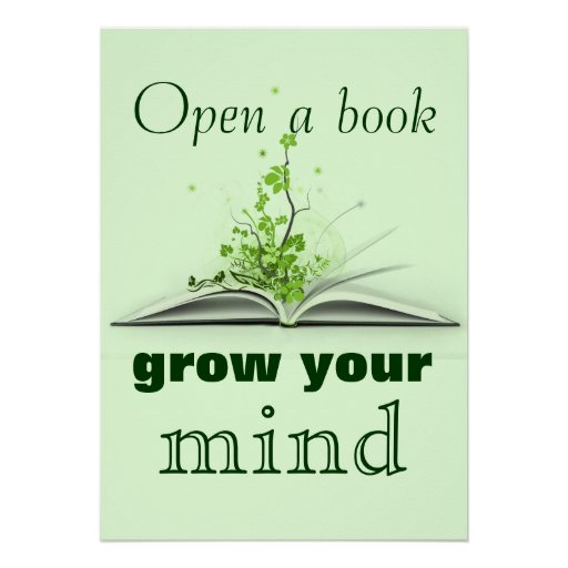 Open A Book Poster