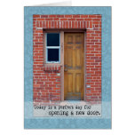 Open A New Door door photograph Greeting Card