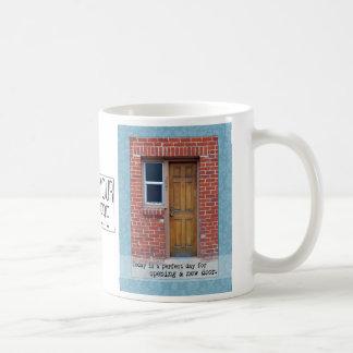 Open A New Door motivational Mug