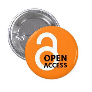 Open Access Badge Pinback Button