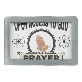 open access to god rectangular belt buckle