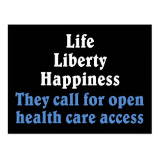 Open access to health care 2 postcard