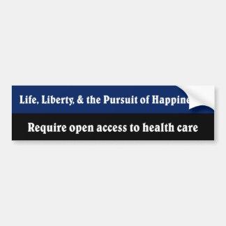Open access to health care car bumper sticker