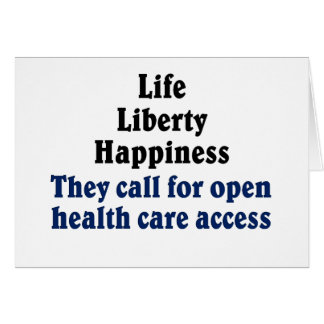 Open access to health care card