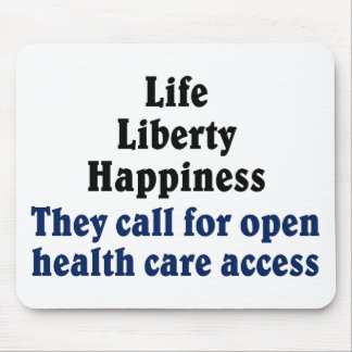 Open access to health care mouse pad